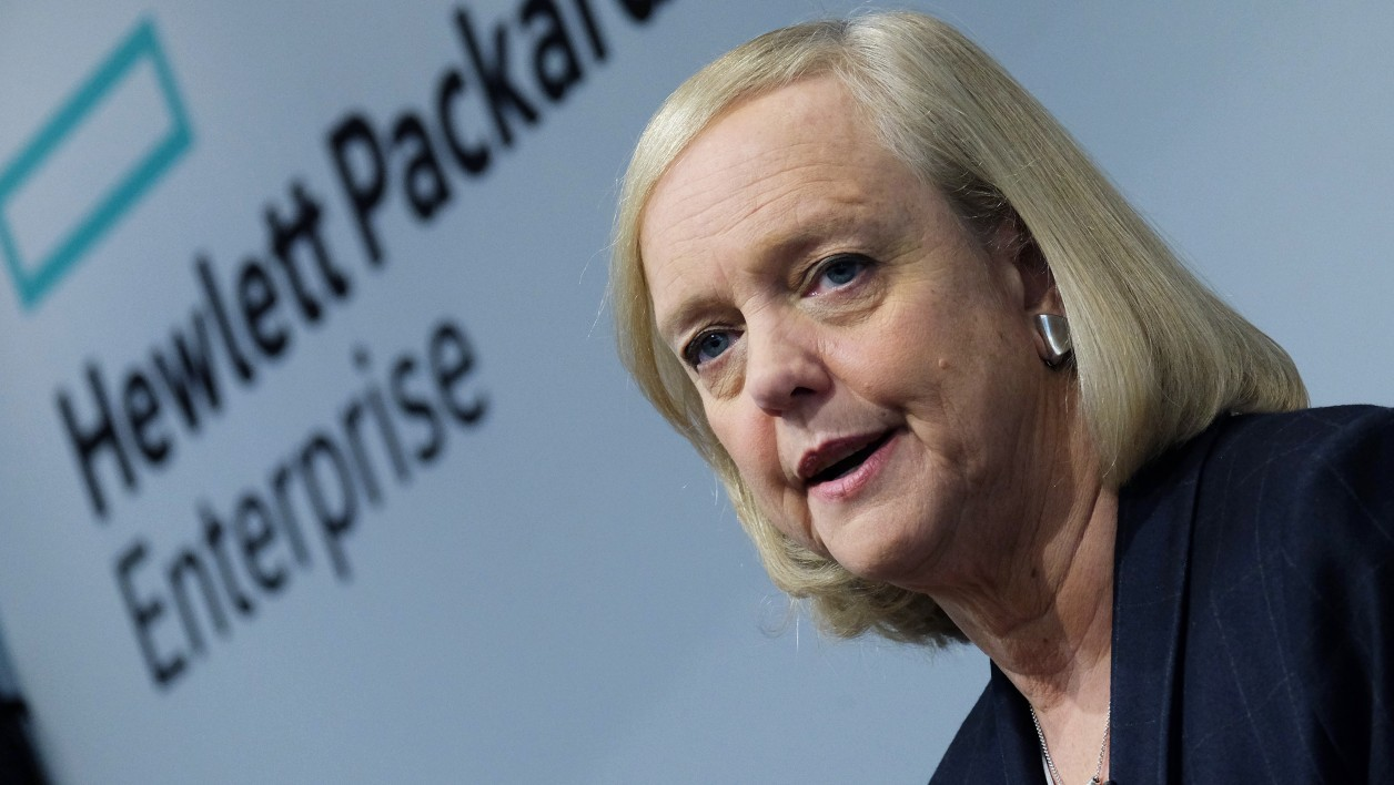Meg Whitman, poursuit le plan de réduction d'effectifs au sein d'HP.