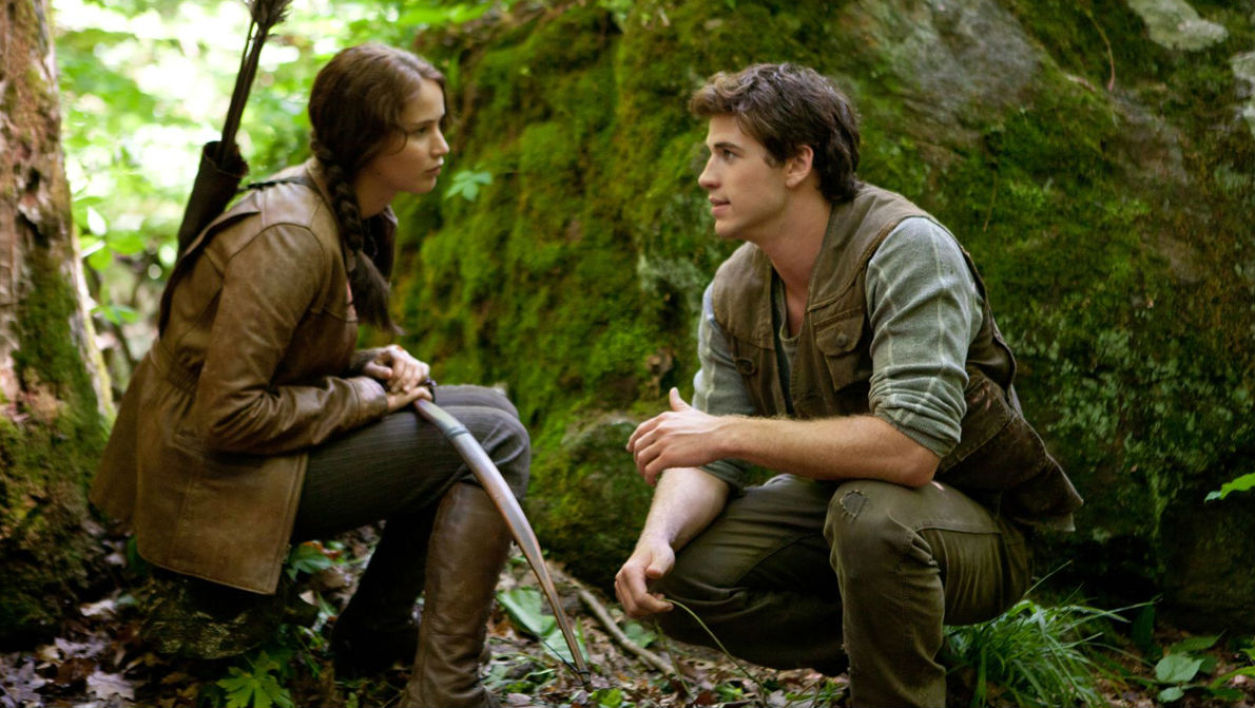 "Jennifer Lawrence et Liam Hemsworth dans ""Hunger Games"" (2012)"