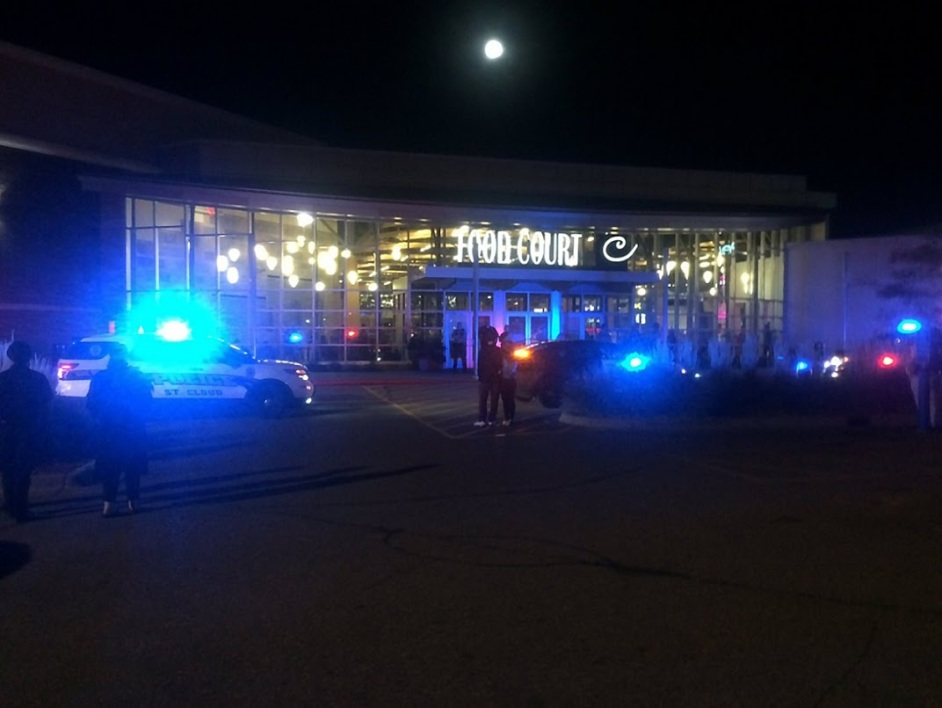 """This image from video provided by KSTP 5 television in Minneapolis, Minnesota, shows police activity at the scene of a stabbing at the Crossroads Center mall in St. Cloud, Minnesota. A man making """"some references to Allah"""" stabbed and injured eight people September 17, 2016 in a shopping mall in the US state of Minnesota, before being shot dead by an off-duty officer, police said. The suspect """"asked at least one person if they were Muslim before he assaulted them,"""" Blair Anderson, the police chief in the city of St. Cloud where the attack took place, told journalists. Anderson said the armed suspect entered the Crossroads Center mall in St. Cloud -- a city of about 67,000 people some 70 miles (110 km) northwest of Minneapolis -- and attacked at least eight people. / AFP PHOTO / KSTP TV / HO / RESTRICTED TO EDITORIAL USE - MANDATORY CREDIT """"AFP PHOTO /KSTP 5 TELEVISION"""" - NO MARKETING NO ADVERTISING CAMPAIGNS - DISTRIBUTED AS A SERVICE TO CLIENTS == NO ARCHIVE == MINNEAPOLIS-ST.PAUL NEWS SOURCES OUT =="""