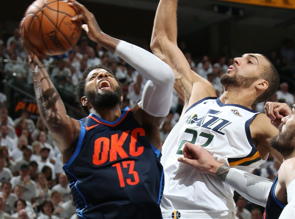 Paul George et Rudy Gobert
