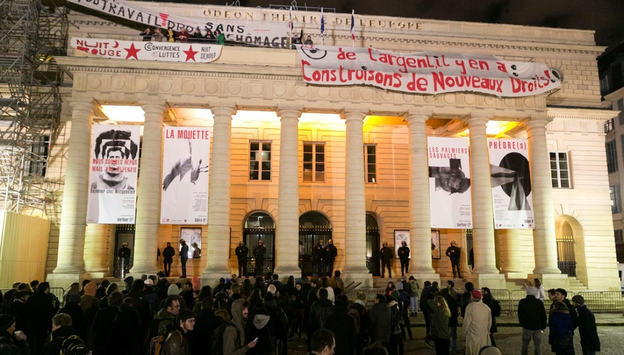 intermittents du spectacle, occupation, théâtre de l'Odéon