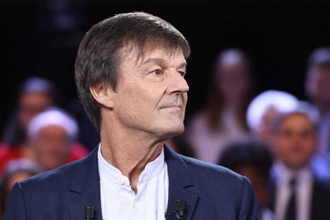 """Former French minister for the Ecological and Inclusive Transition Nicolas Hulot poses before taking part in the political TV show """"L'emission politique"""", on November 22, 2018 on a set of French TV France 2 in Saint-Cloud, outside Paris.  Bertrand GUAY / AFP"""