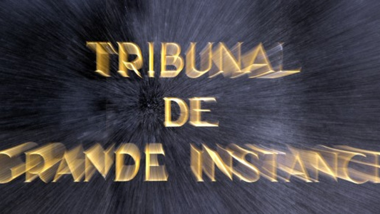 Tribunal de Grande Instance. (Illustration)