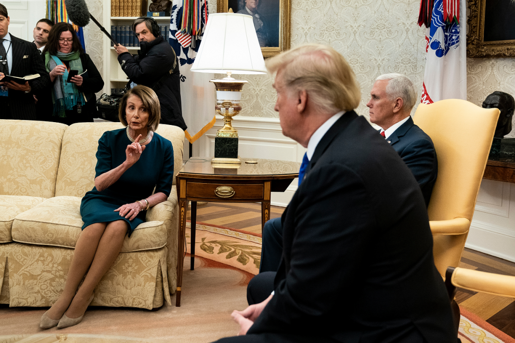 Nancy Pelosi, Donald Trump et Mike Pence