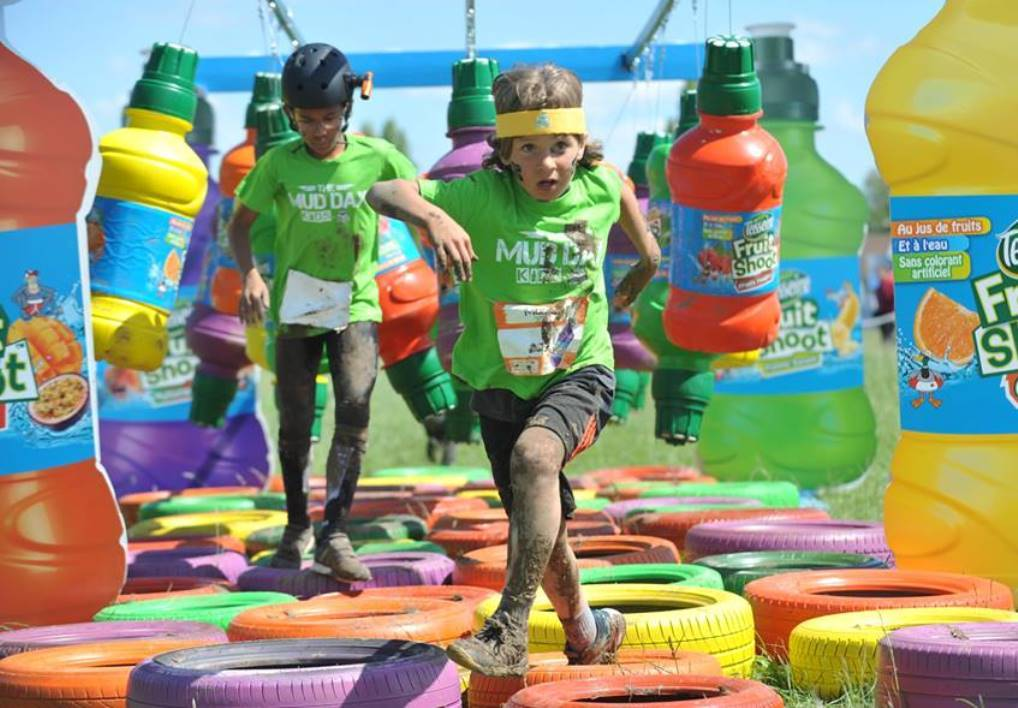 750 enfants ont goûté aux joies du Mud Kids by Fruit Shoot.