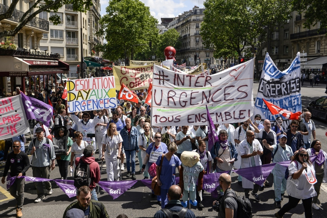 Manifestation du collectif Inter-Urgences, le 6 juin 2019, à Paris