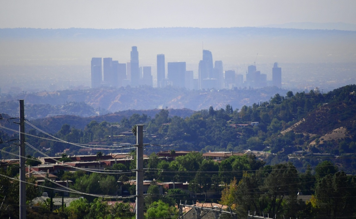 Los Angeles sous une couche de pollution le 17 octobre 2017