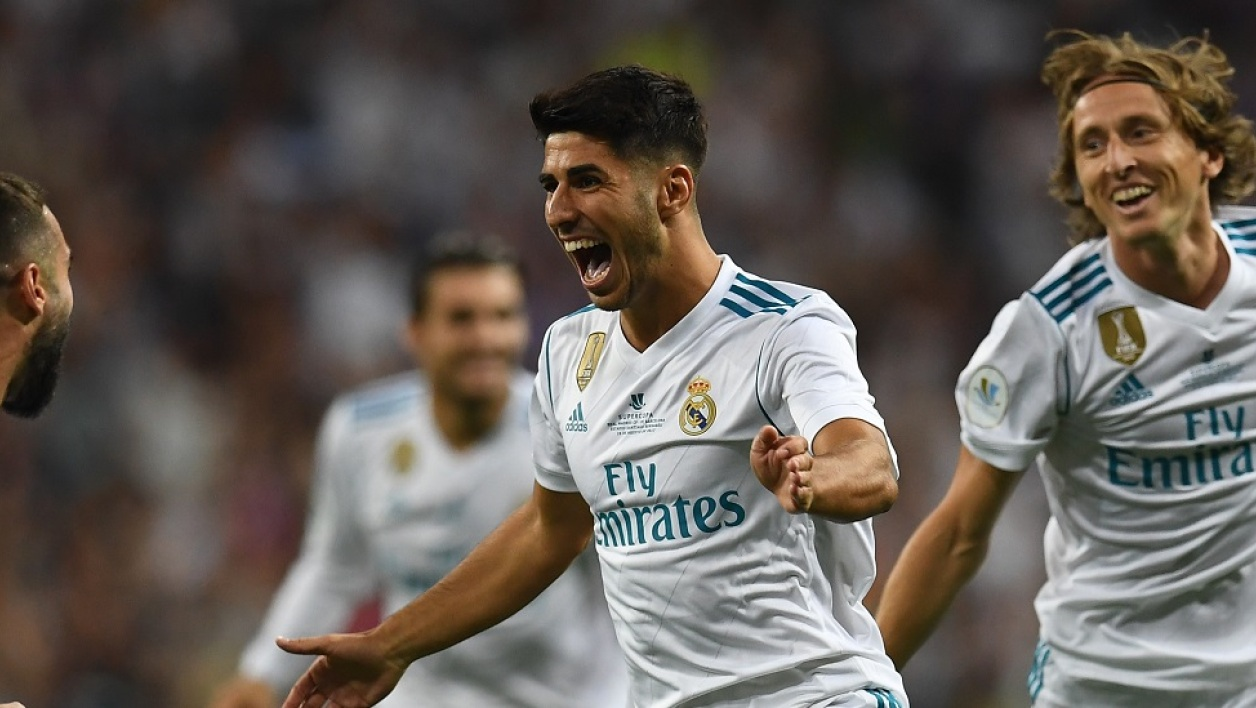 La joie du Real sur le but d'Asensio