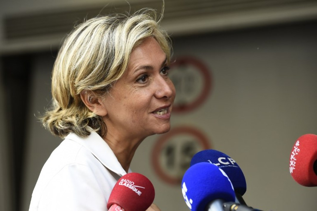 French right-wing Les Republicains (LR) party member and president of the Ile-de-France regional council Valerie Pecresse arrives to attend an LR executive committee meeting on July 11, 2017, at the party headquarters in Paris. The fate of several Les Republicains figures is due to be determined on July 11 by party executives, which could sanction them or even exclude them from the party for rallying to French President Emmanuel Macron, or their displayed proximity to the new majority. bertrand GUAY / AFP