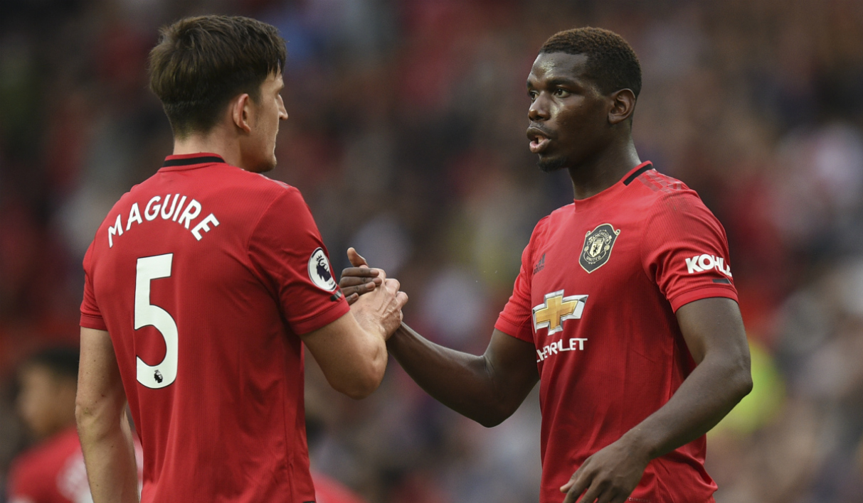 Harry Maguire et Paul Pogba