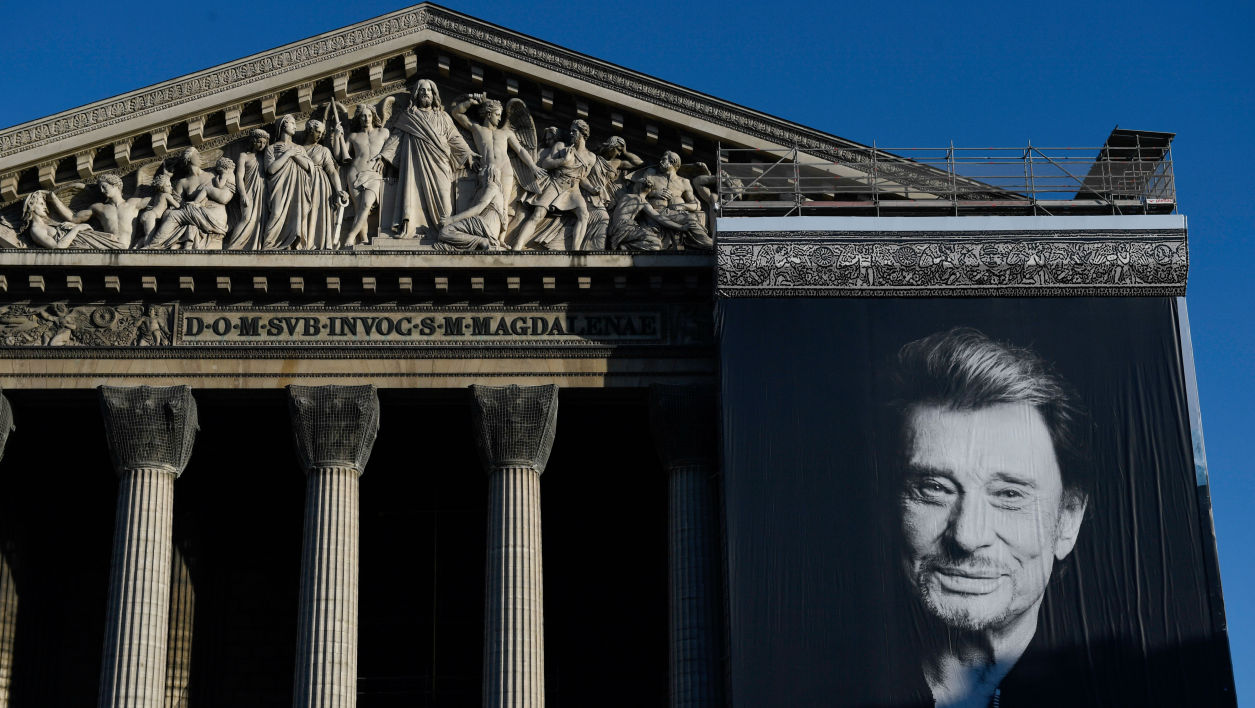 La photo de Johnny Hallyday à La Madeleine à Paris, le 9 décembre 2017
