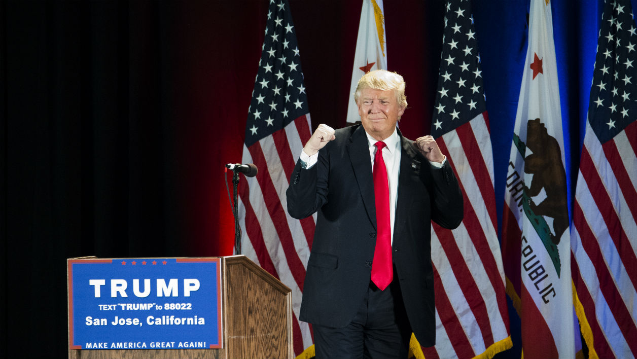 Donald Trump lors d'un meeting en Californie, à San José, le 2 juin 2016