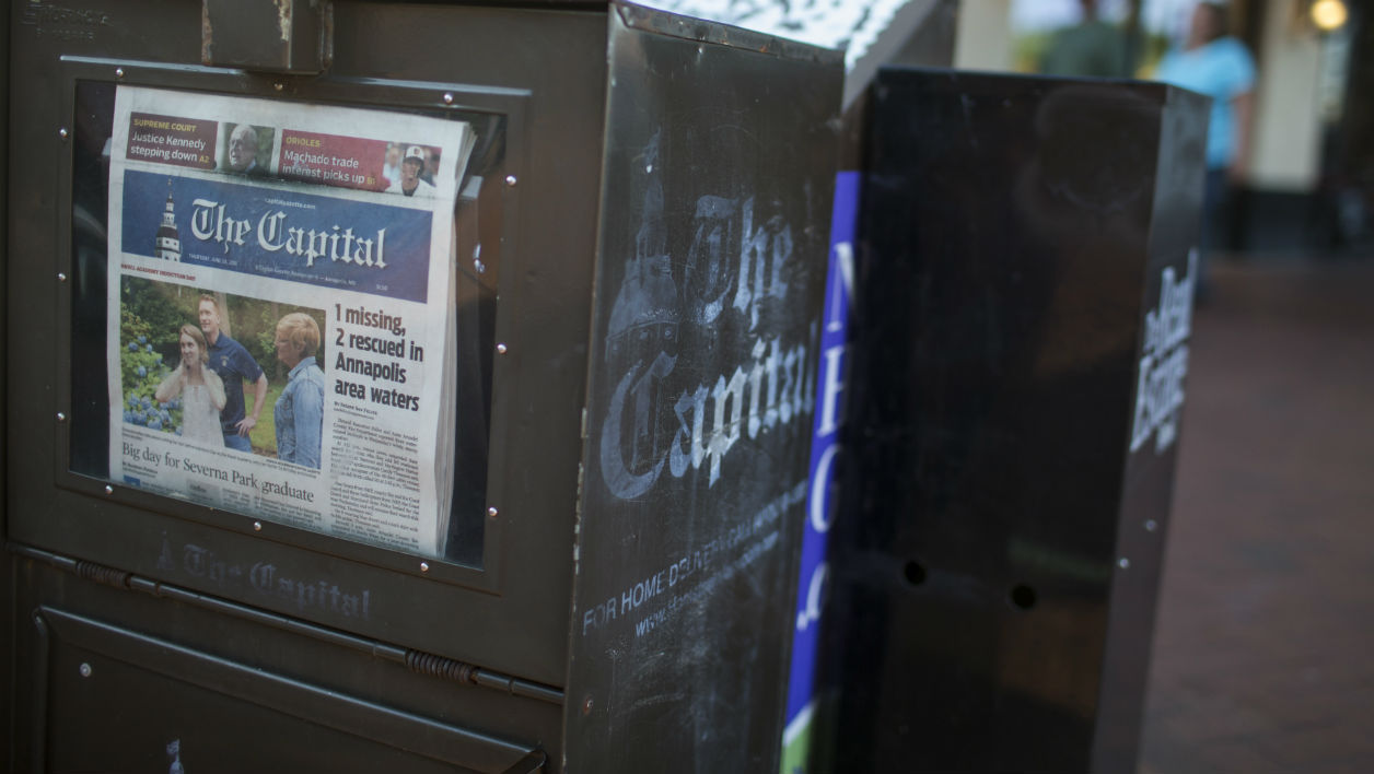 Un exemplaire du Capital Gazette