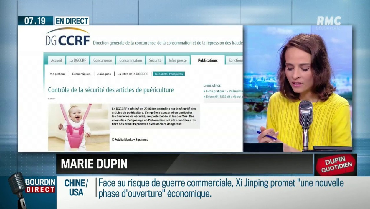 """Dupin quotidien"": articles de puériculture, attention danger!"