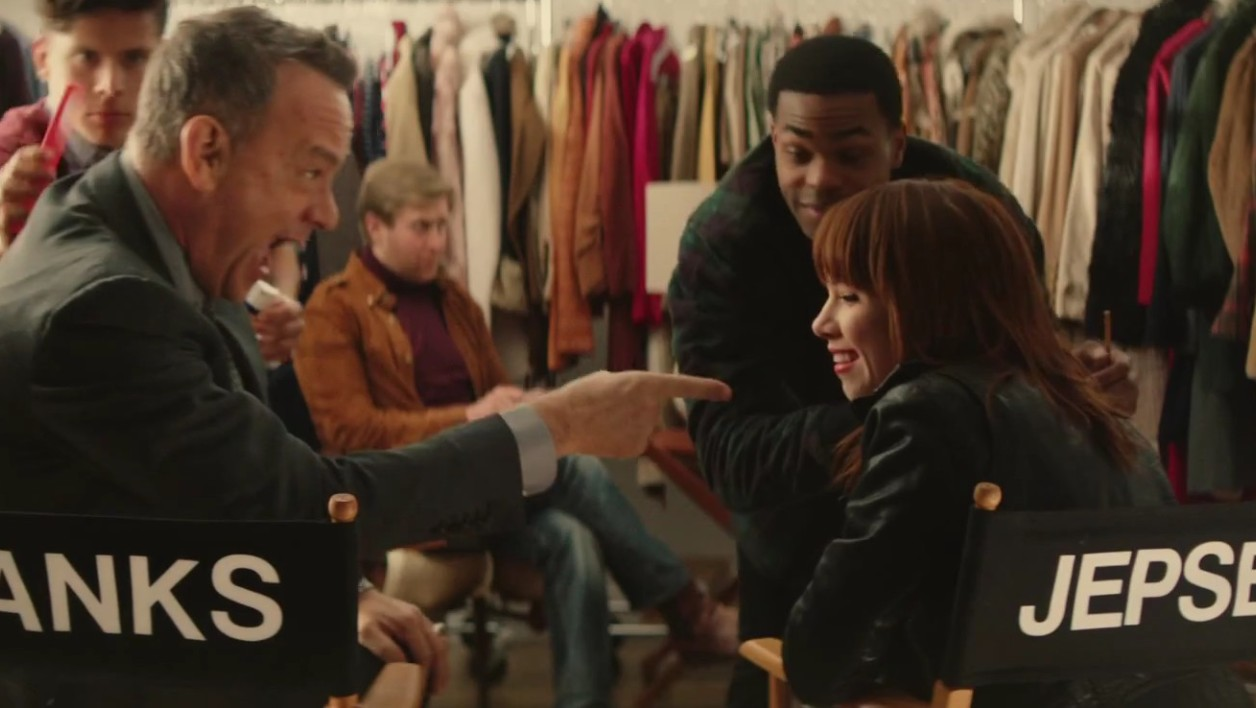"Tom Hanks et Carly Rae Jepsen dans ""I really like you"""