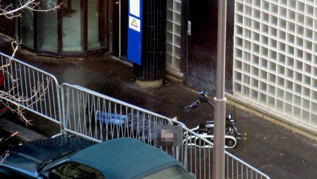 A man was shot in Paris outside a police station on Charlie Hebdo anniversary