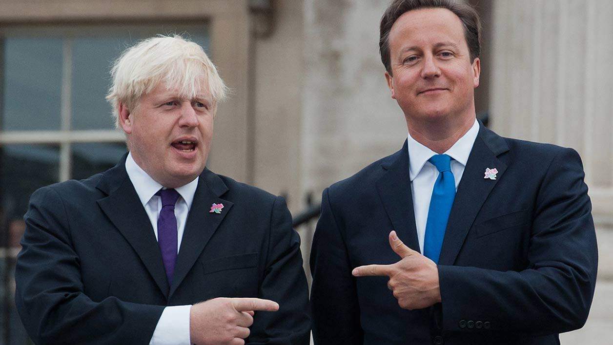 L'ancien maire de Londres Boris Johnson et le Premier ministre David Cameron.