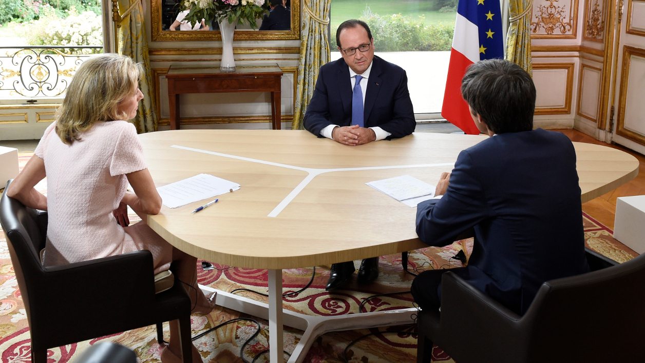 François Hollande, lors de la traditionnelle interview du 14-Juillet.