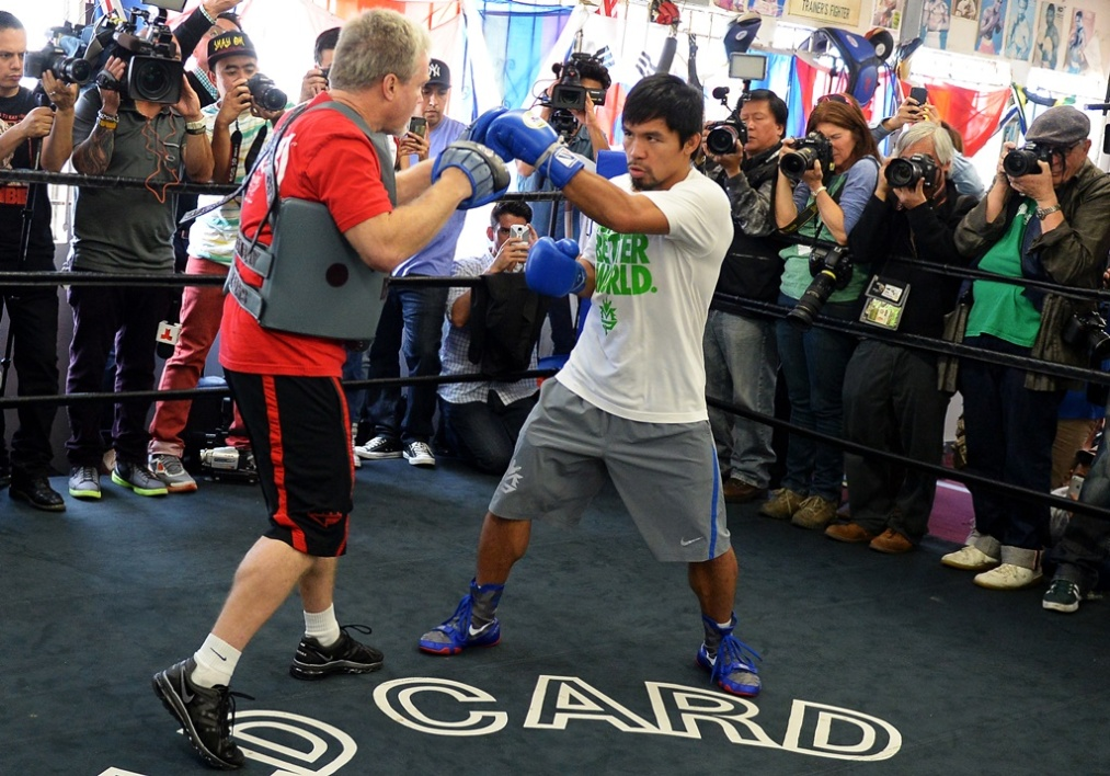 Freddie Roach et Manny Pacquiao