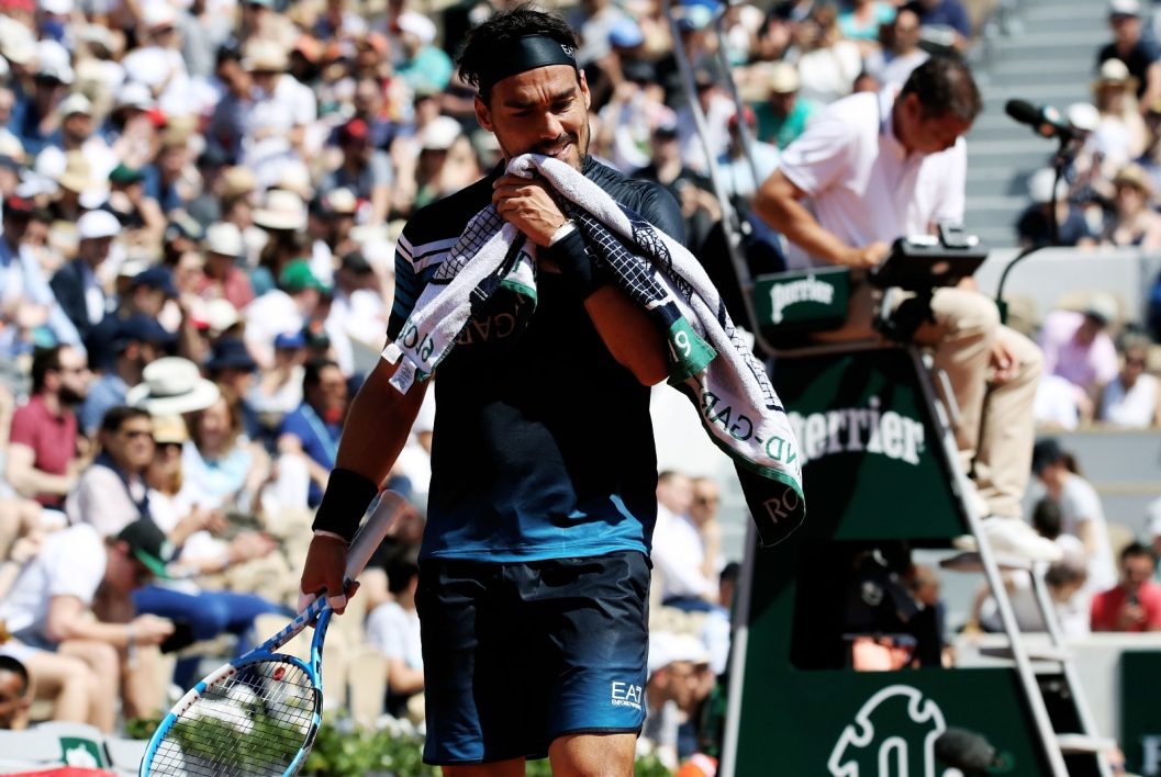 Wimbledon: Fognini s'excuse pour son craquage inadmissible