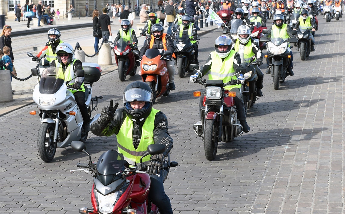 Manifestation de la Fédération des motards en colère, en 2015, à Bordeaux. (Photo d'illustration).