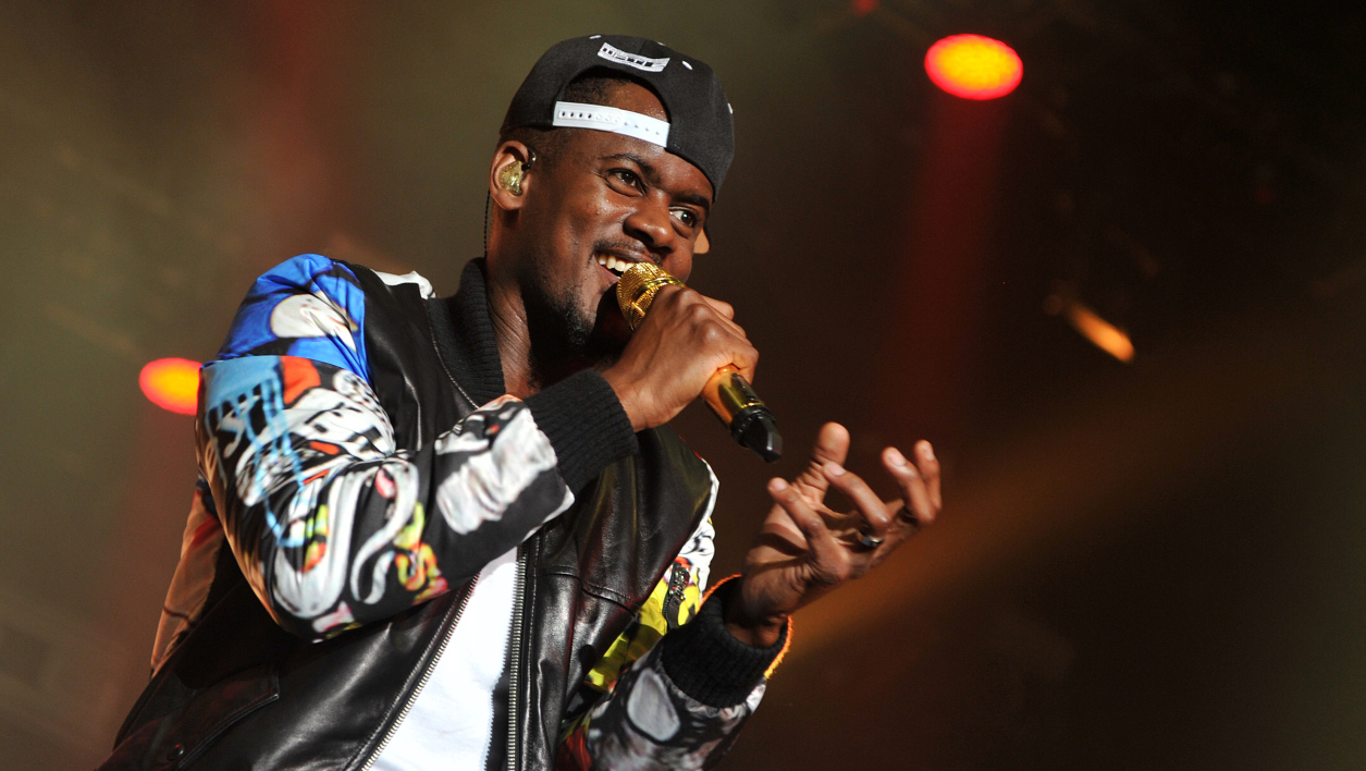 Le rappeur Black M, en avril 2015, au Printemps de Bourges.