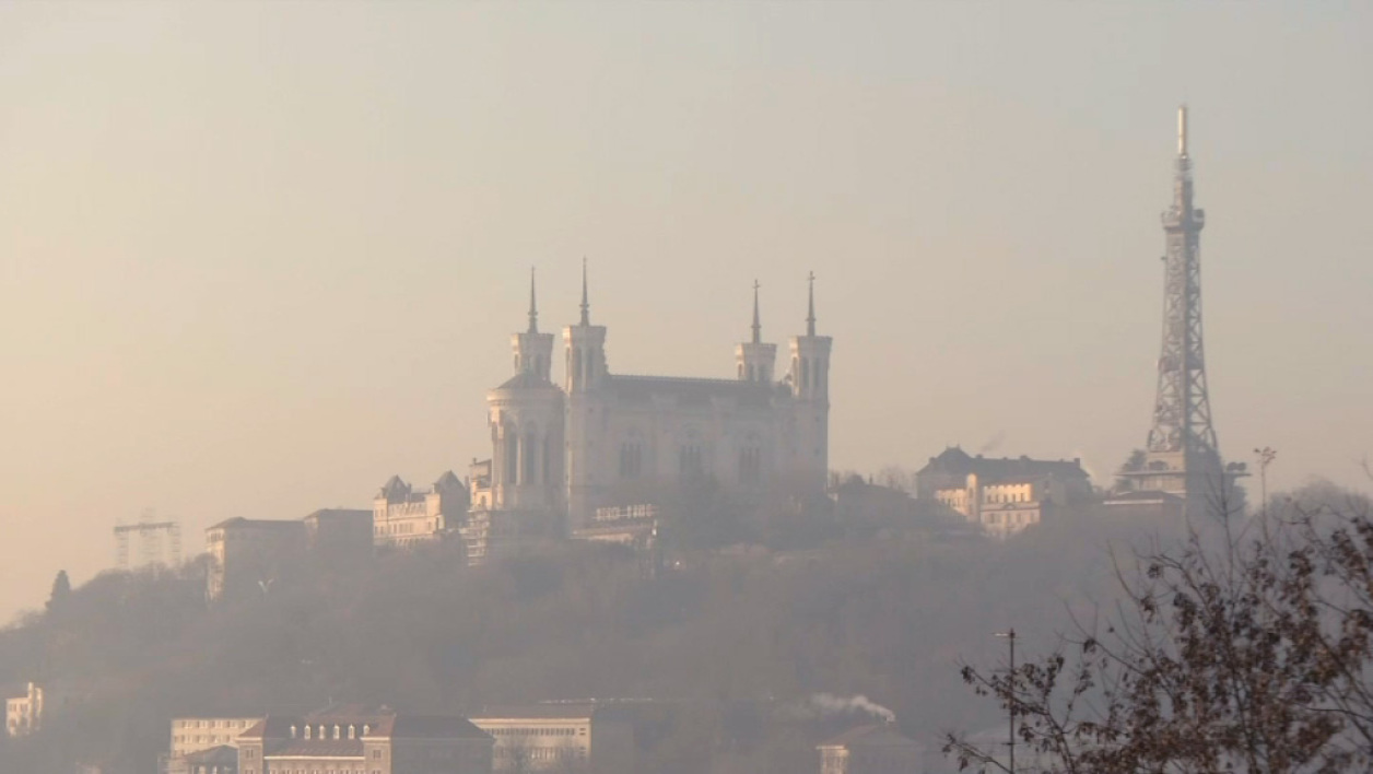 Nuage de pollution à Lyon