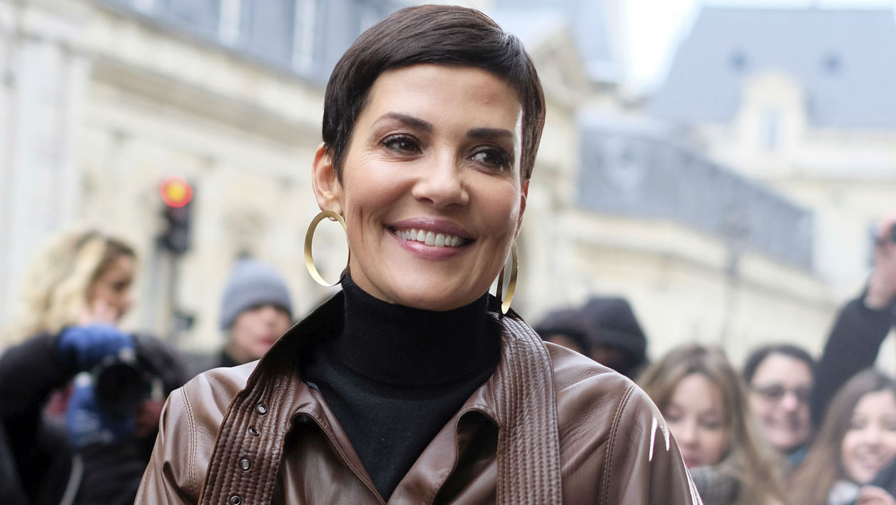 Cristina Cordula à la Fashion Week à Paris en 2017