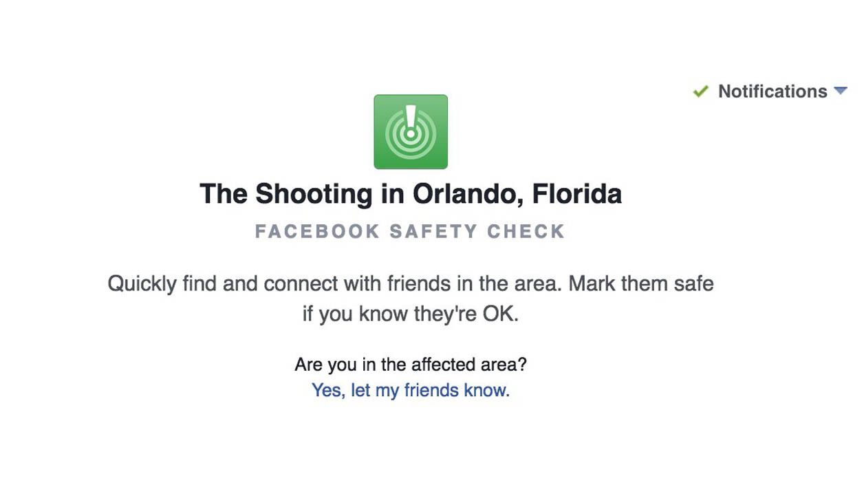 Facebook active le Safety Check après la fusillade d'Orlando