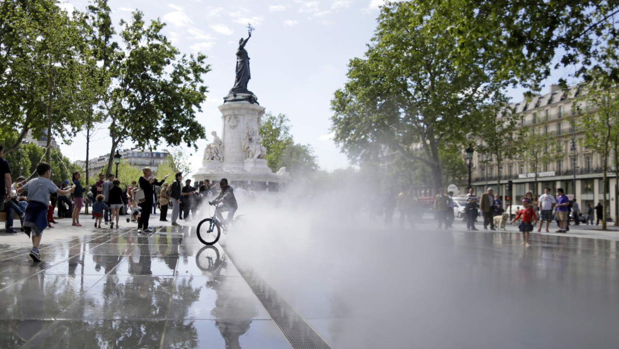 Un restaurant situé sur la place de la République à Paris a pris feu (photo d'illustration).