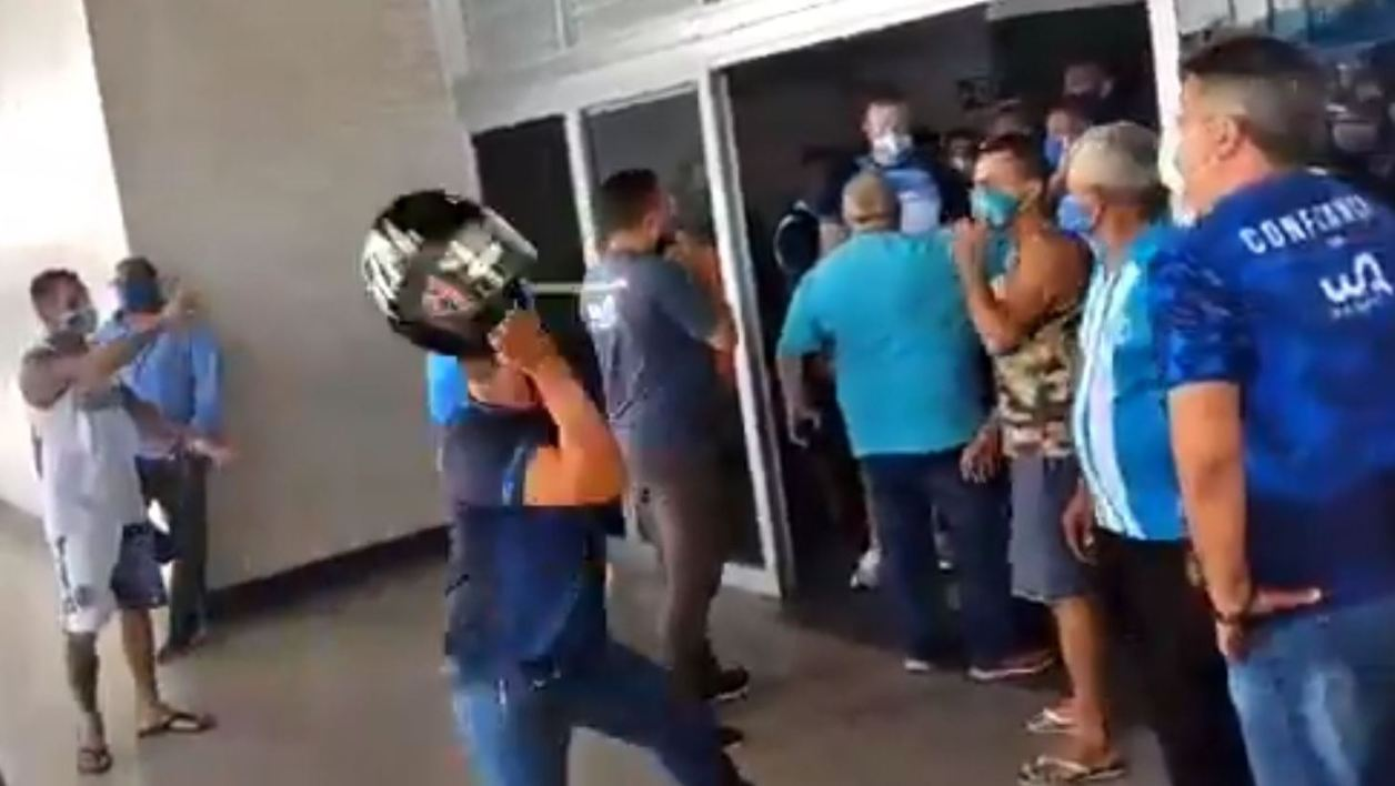 Altercation supporters brésil foot