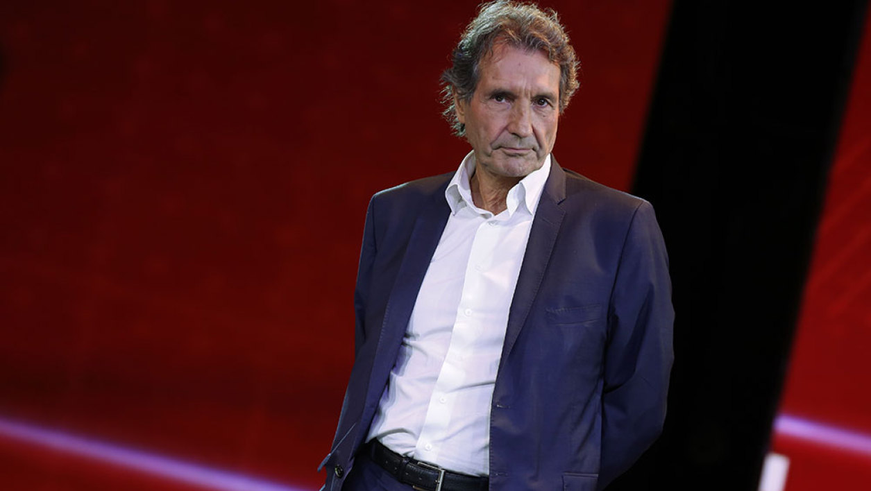 French TV host Jean-Jacques Bourdin takes part in the NextRadioTV group press conference in Paris, on September 2, 2015. NextRadioTV is a French company consisting of BFM TV and RMC radio station.