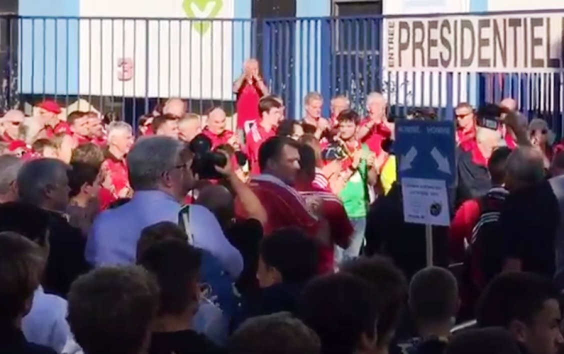 Les supporters du Munster à Colombes