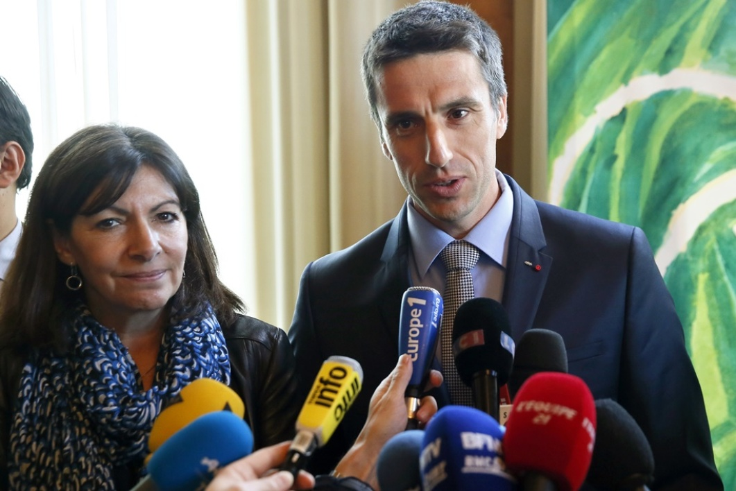 Anne Hidalgo et Tony Estanguet