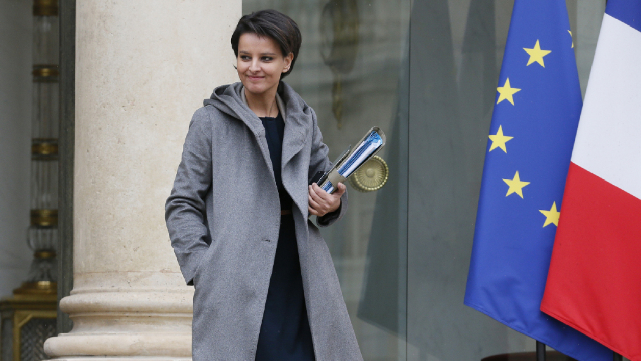 La ministre de l'Education nationale Najat Vallaud-Belkacem