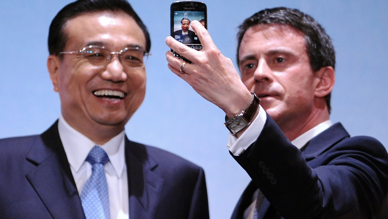 France Chine Li Keqiang Manuel Valls STMicroelectronics Schneider Alcatel Huawei