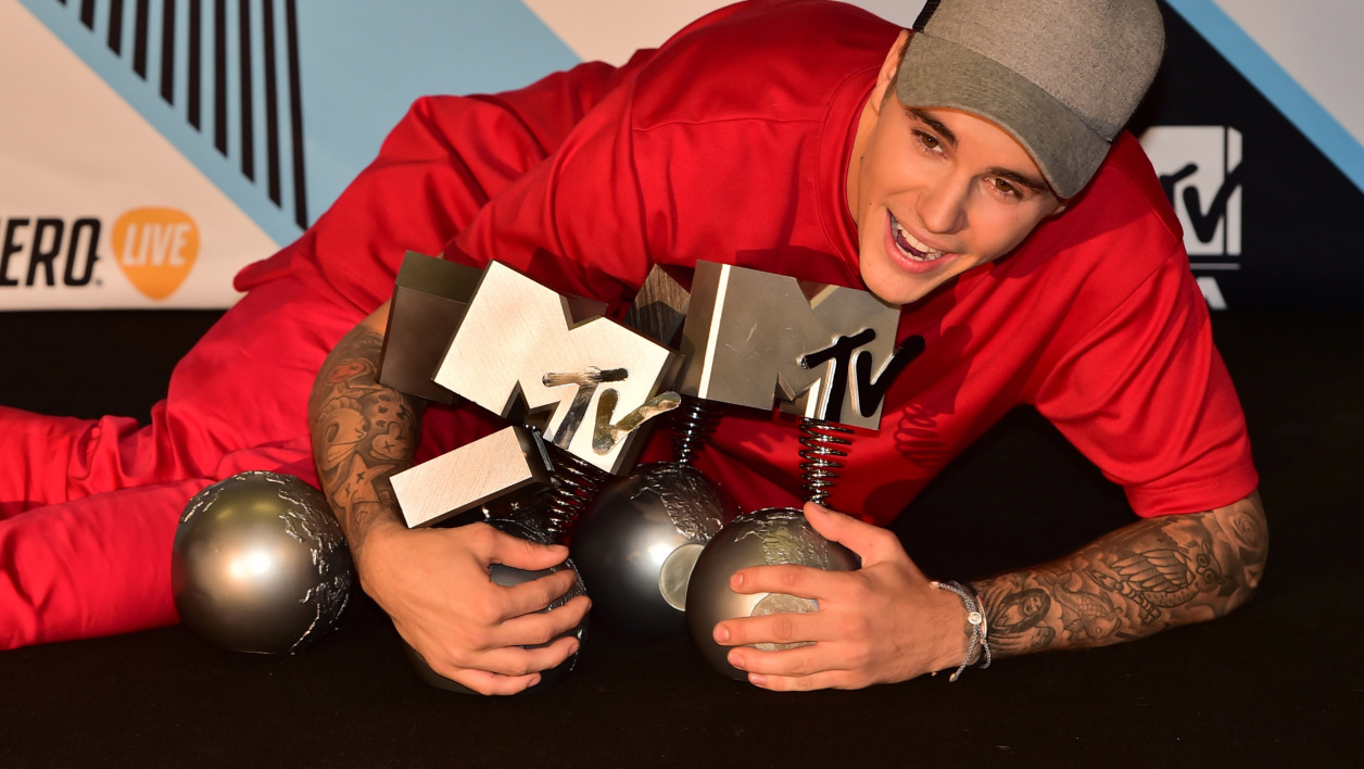 Justin Bieber le 25 octobre lors des Mtv Europe Music Awards