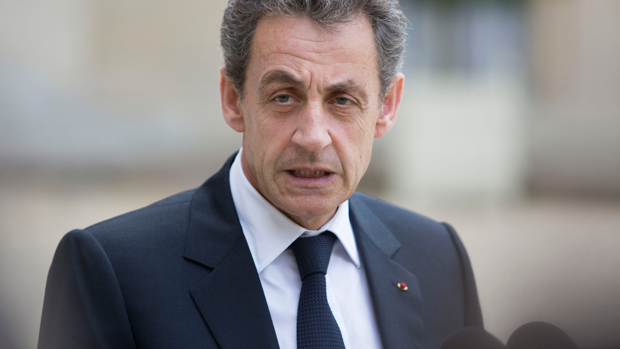 "Former French president and head of the right-wing opposition party ""Les Republicains"" (The Republicans) Nicolas Sarkozy speaks to the media after a meeting with French President who meets French leaders of political parties and movements on June 25, 2016 at the Elysee presidential Palace in Paris, after Britain voted to leave the European Union a day before. Europe&squot;s press was awash with gloom and doom over Brexit on June 25, warning that it was a boon for nationalists while urging EU leaders to meet the challenge of their ""rendezvous with history"". GEOFFROY VAN DER HASSELT / AFP"