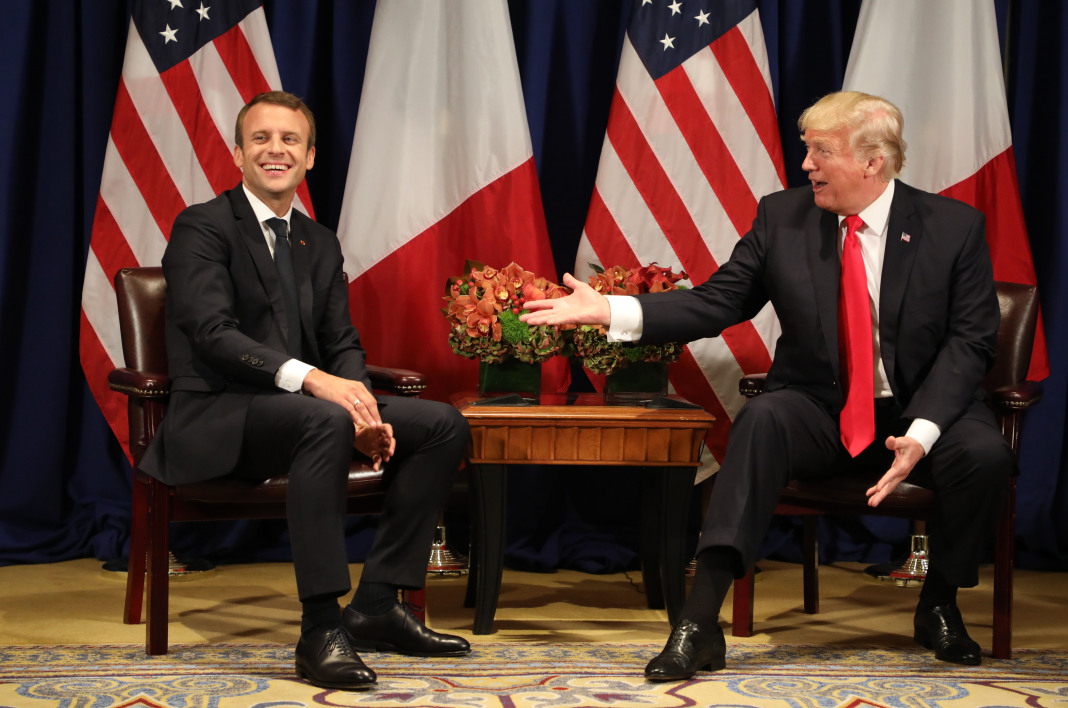 Emmanuel Macron et Donald Trump, le 19 septembre 2017 à New York.