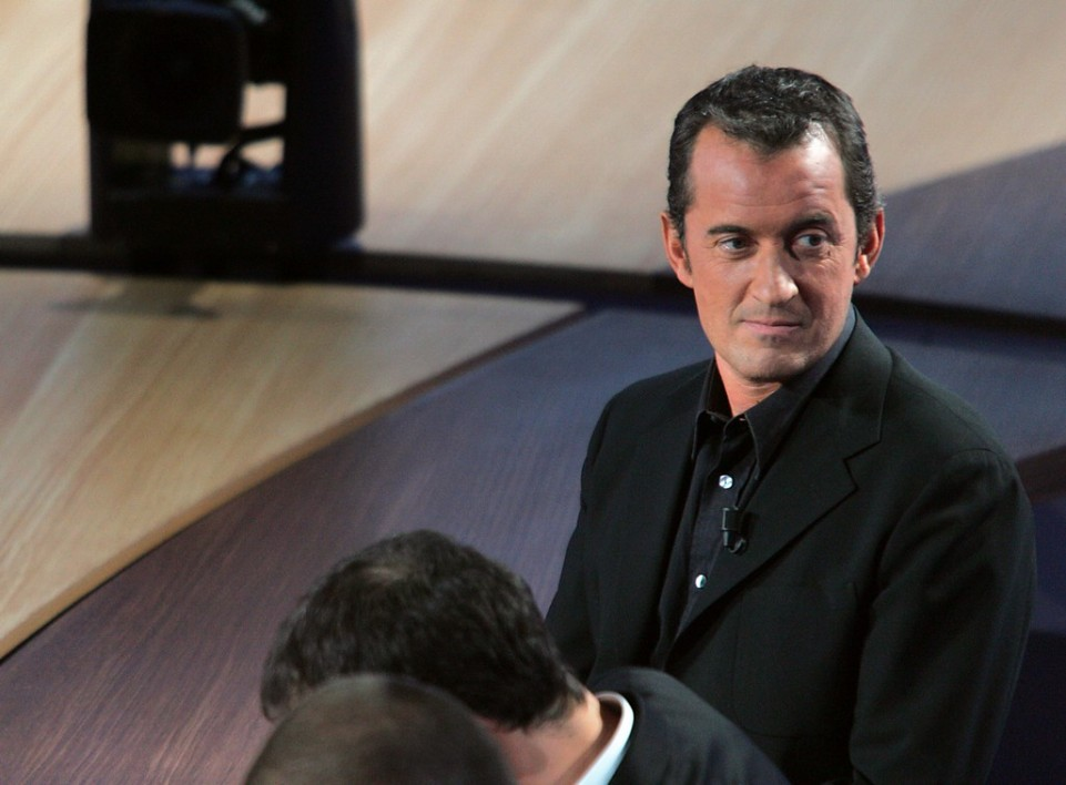 Christophe Dechavanne sur le plateau du Grand Journal le 4 novembre 2004