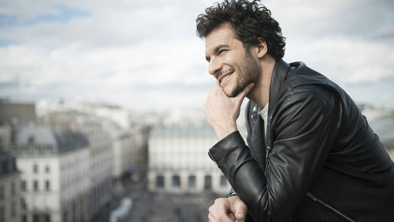 French and Israeli singer Amir, who will represent France in the 2016 Eurovision, poses for photographs in Paris, on April 15. The Eurovision Song Contest will be held on May 14, 2016, in Stockholm.