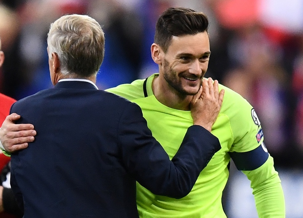 Hugo Lloris et Didier Deschamps