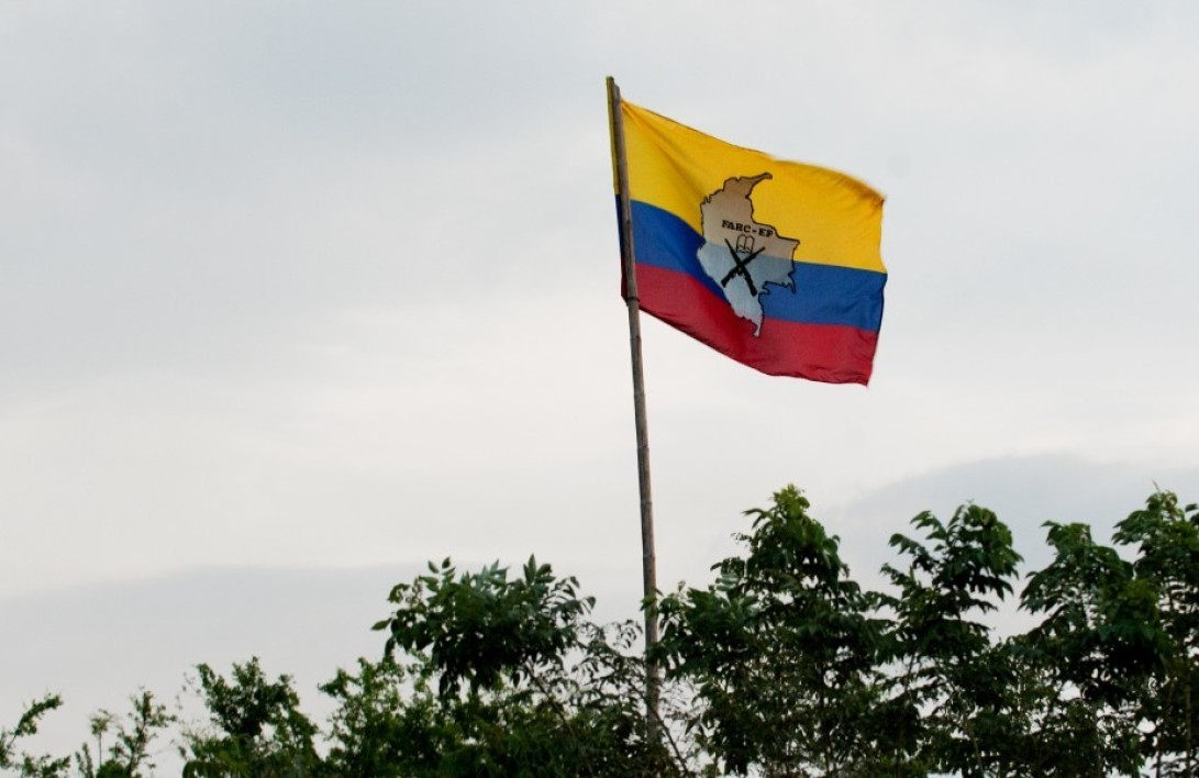 Le drapeau des Farc (photo d'illustration)