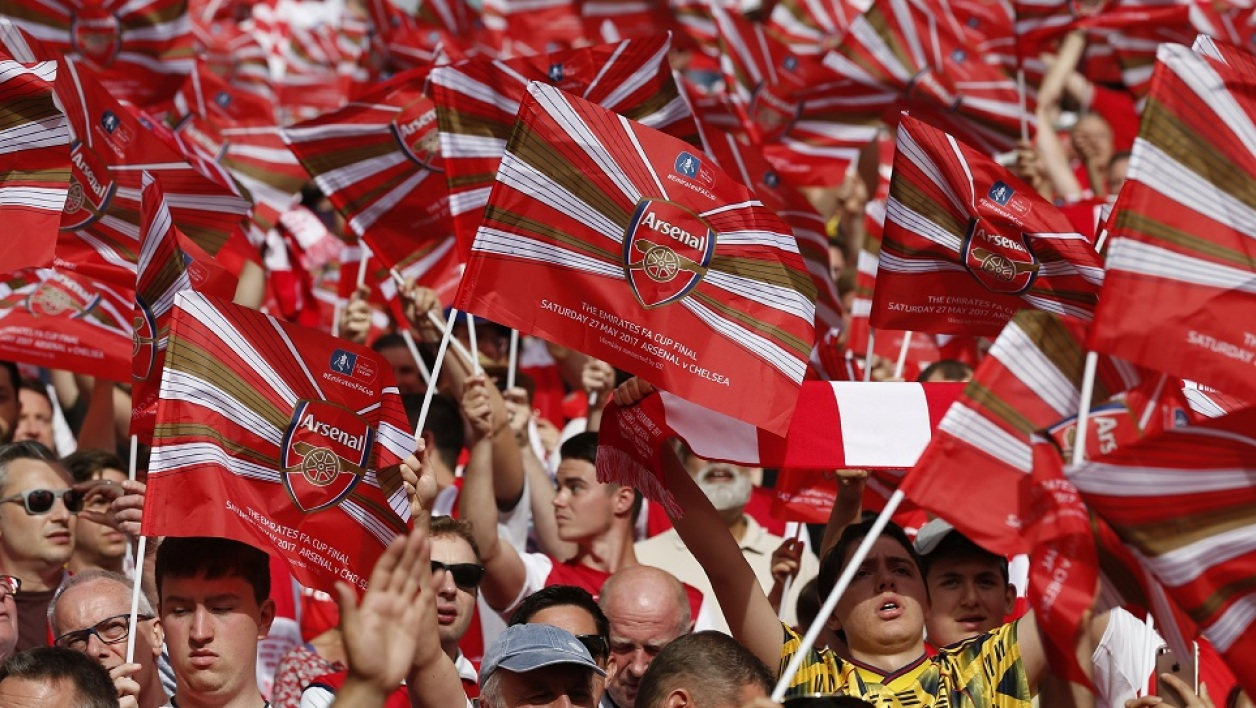 Des supporters d'Arsenal
