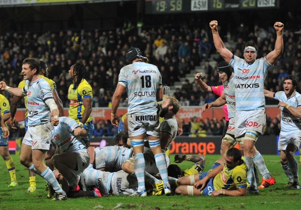 Top 14: le Racing frappe fort à Clermont