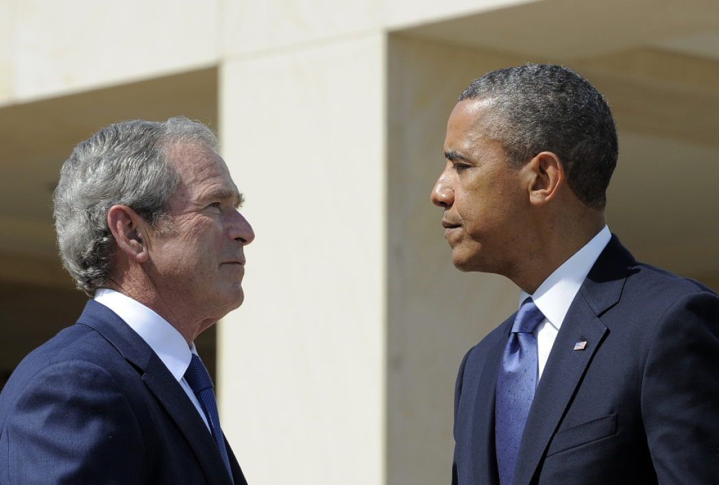 Barack Obama et George W. Bush à Dallas, au Texas, le 13 avril 2013.