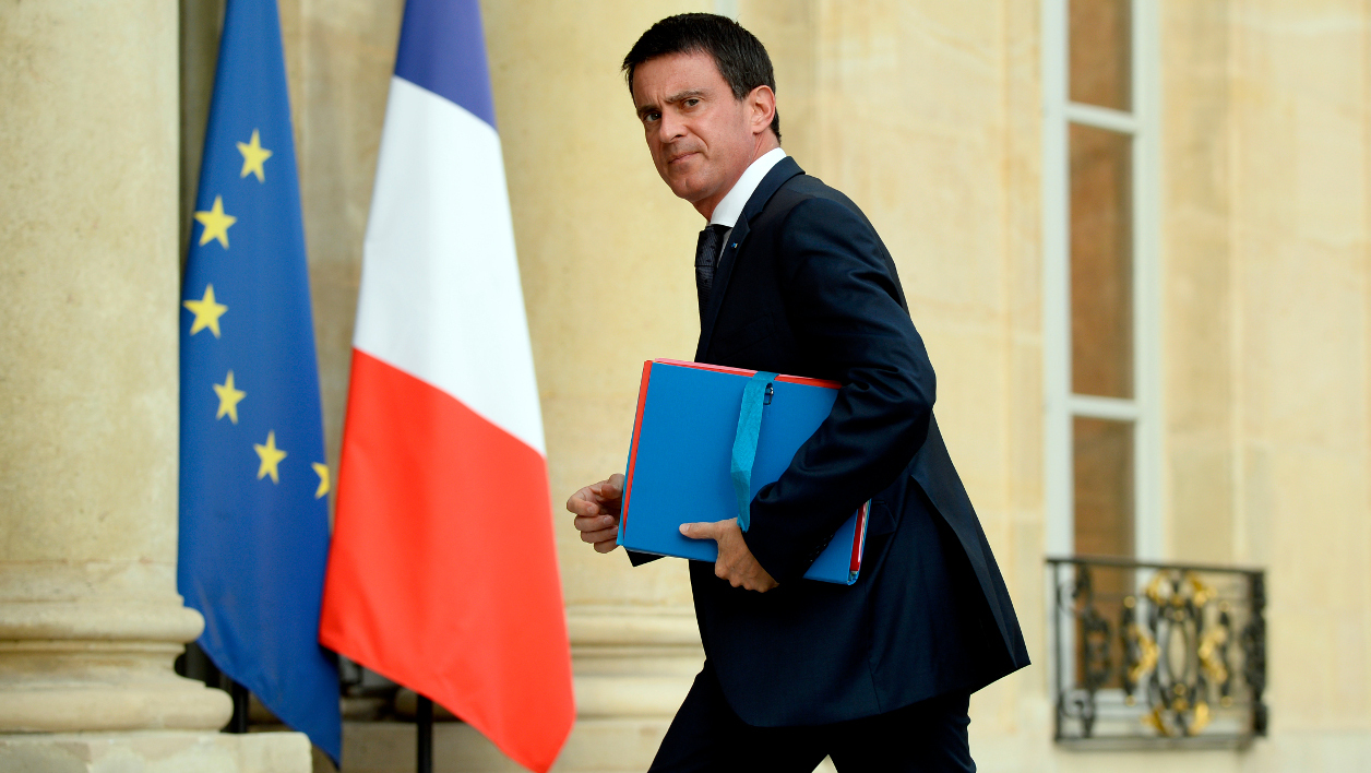 "French Prime Minister Manuel Valls arrives at the Elysee Palace in Paris on July 27, 2016 for a meeting with French President and French representatives of the different religion following yesterday attack at a church in Saint-Etienne-Du-Rouveray. France probes an attack on a church in which two men described by the Islamic State group as its ""soldiers"" slit the throat of a priest. An elderly priest had his throat slit in a church in northern France on July 26 after two men stormed the building and took hostages. The attack in the Normandy town of Saint-Etienne-du-Rouvray came as France was still coming to terms with the Bastille Day killings in Nice claimed by the Islamic State group.  BERTRAND GUAY / AFP"