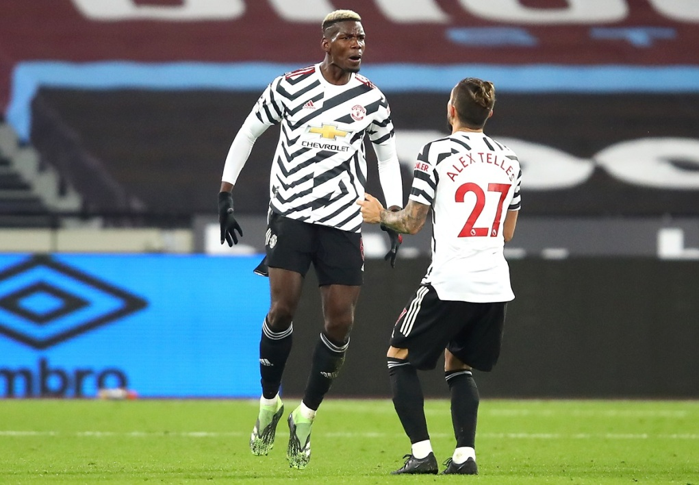Premier League: avec une mine de Pogba, Manchester united renversant face à West Ham