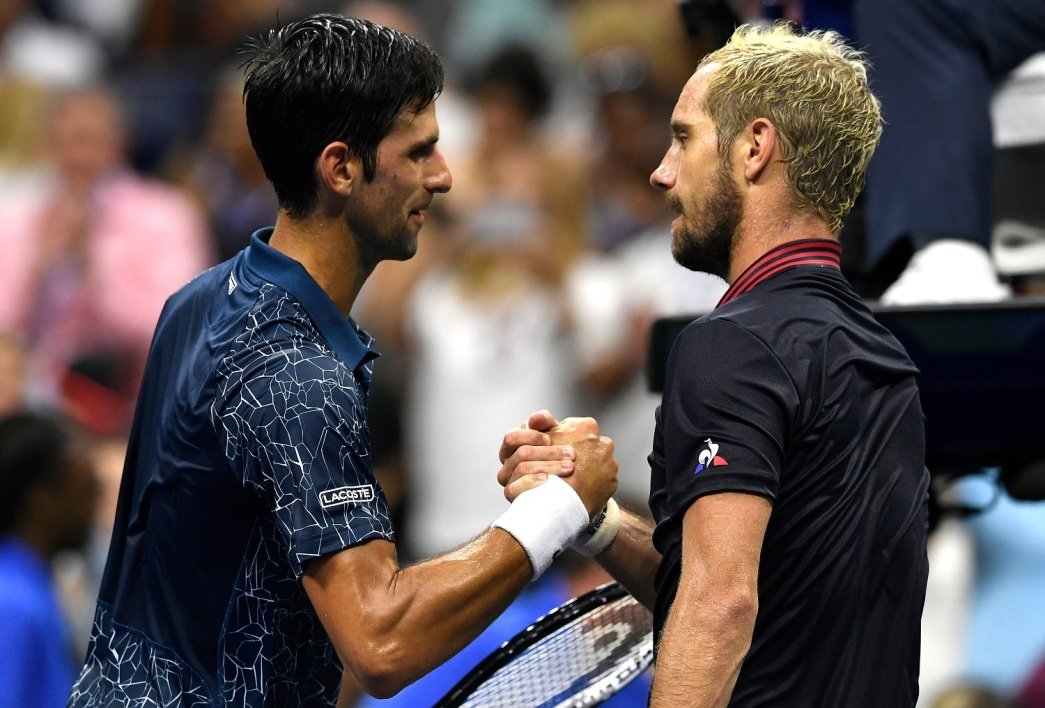 Novak Djokovic et Richard Gasquet