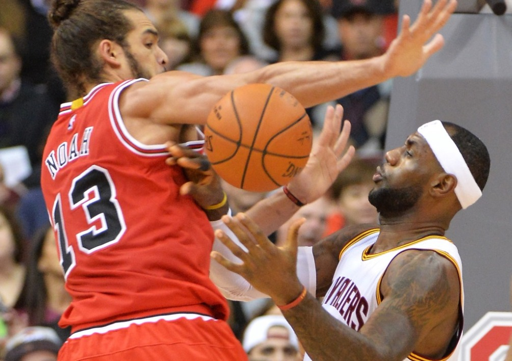 Joakim Noah et LeBron James